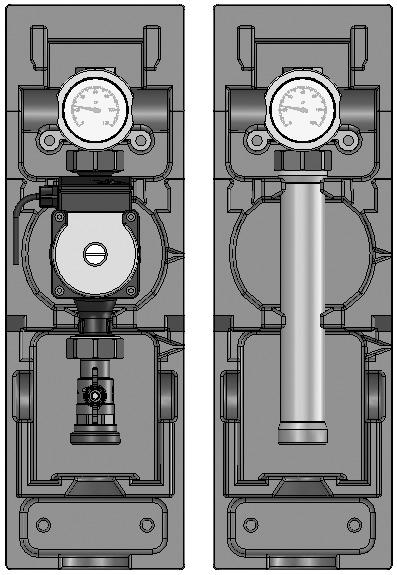 Насосная группа V-UK (Поколение 8), прямой контур, подача слева, Meibes