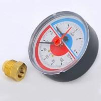 Термоманометр с клапаном для манометра, Emmeti