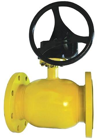 Шаровой стальной кран для газа фланец/фланец, c редуктором, ДУ 125-500 Ру 16, Broen Ballomax