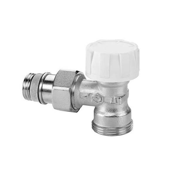 Термостатический клапан c предварительной настройкой, угловой, Meibes