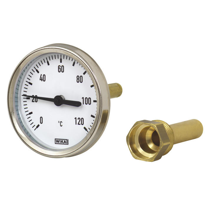 Термометр биметаллический, тип А50.20 (80 мм, сталь оцинкованная), Wika