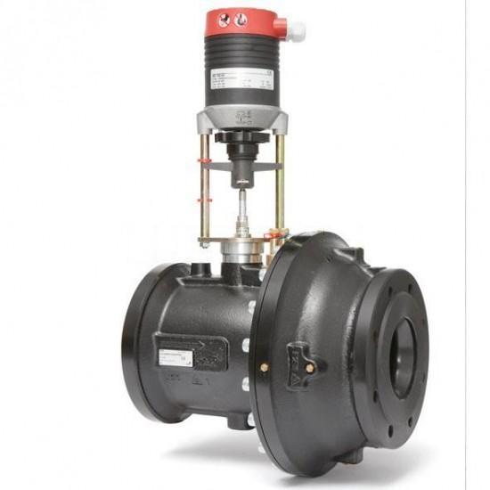 Комбинированный балансировочный клапан ф/ф Fusion-P Ду 65-150 с электроприводом, TA