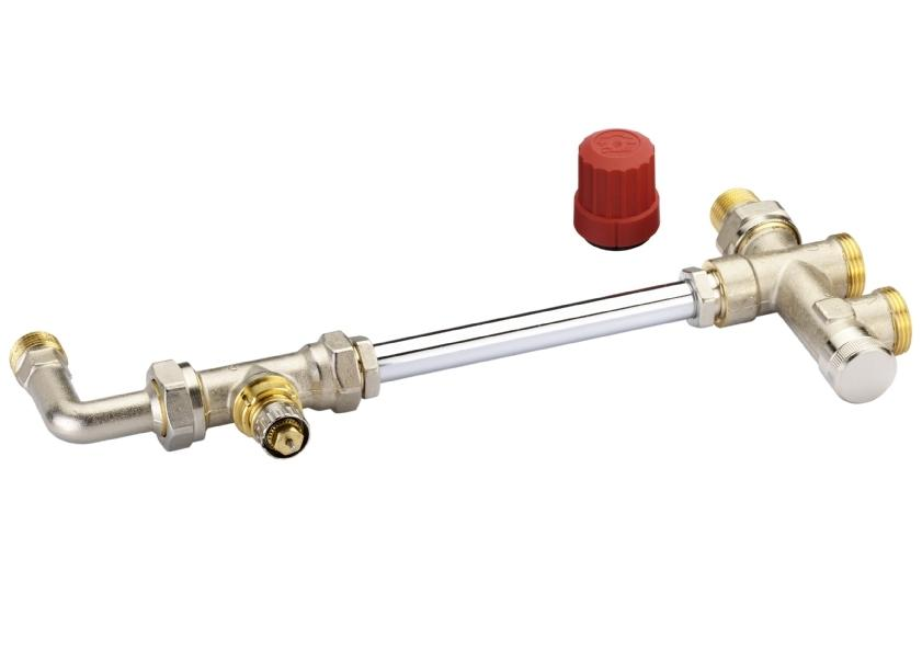 Гарнитура RA-KE/RTR-K для однотрубной насосной системы отопления, Danfoss