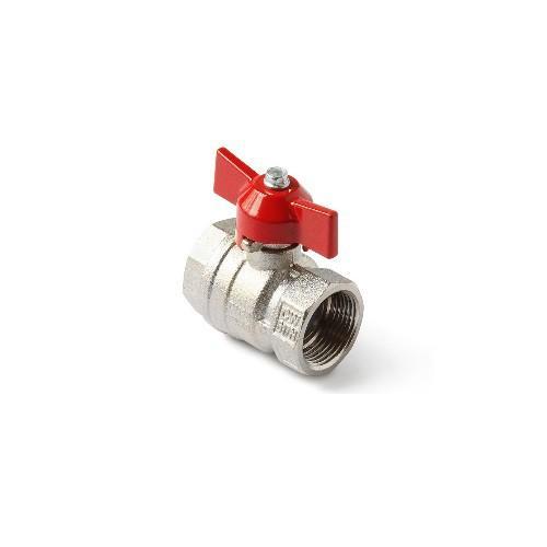 Шаровой латунный кран ВР-ВР полнопроходной, ручка-бабочка, Ду 15-25 Ру 40-50, Itap Ideal 092