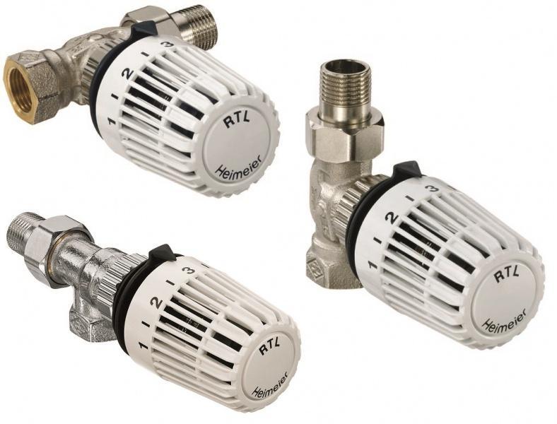 Термостатический клапан RTL с термоголовкой, прямой, Heimeier