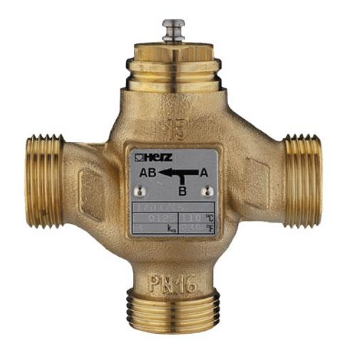 Клапан трёхходовой регулирующий (разделительный), Heimeier