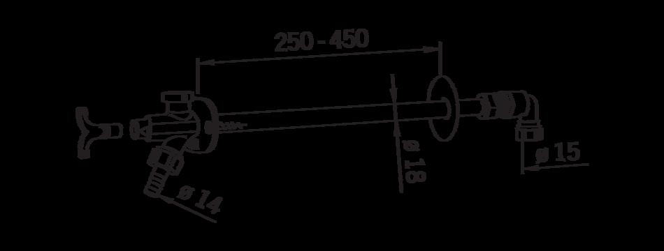 Клапан гидрантный для водоразбора с внешней стороны дома, Oras