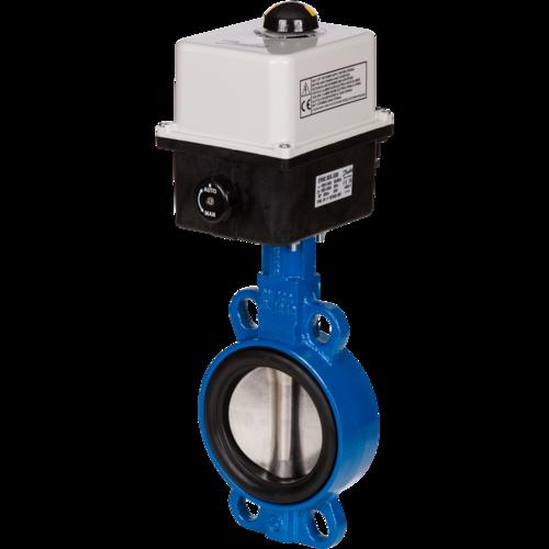 Дисковый поворотный затвор межфланцевый VFY-WA (SYLAX) с электроприводом, Danfoss
