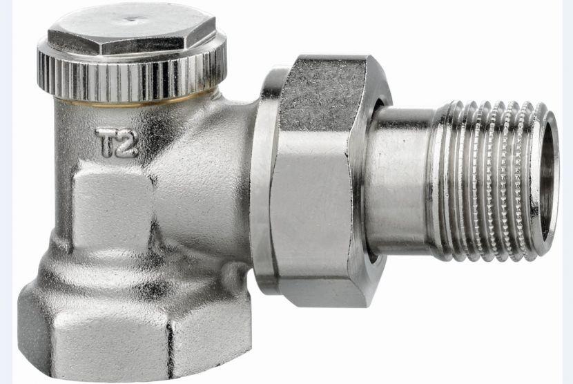 Запорный (отсечной) клапан угловой Regutec, Heimeier