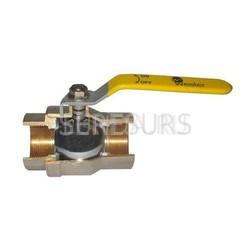 Шаровой латунный кран для газа ВР-ВР полнопроходной, с рукояткой, Ду 15-50 Ру 16, Wester серии W100