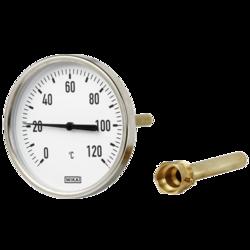 Термометр биметаллический, тип А50.10 (100 мм, алюминий), Wika