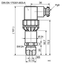 Датчик давления для жидкостей и газов, Siemens