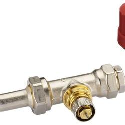 Клапан RA-KE/RTR-KE с уплотнительной втулкой и отводом с накидной гайкой, Danfoss