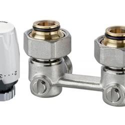Комплект терморегулятора Vekotrim/DX, угловой, Heimeier