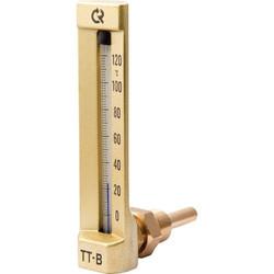 Промышленный стеклянный термометр угловой ТТ-В, Росма