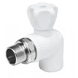 Шаровой кран PPR резьба/сварка, с вентилем, угловой, для радиатора