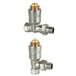 Термостатический клапан VPE11.. угловой с компенсацией давления, Siemens