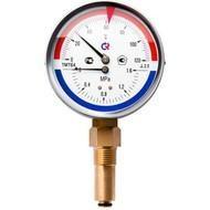 Термоманометр ТМТБ, подключение снизу, Росма