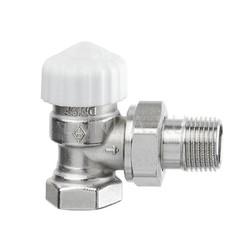 Термостатический клапан с предварительной настройкой Calypso exact, угловой, Heimeier