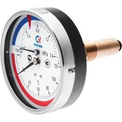 Термоманометр ТМТБ, подключение сзади, Росма
