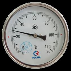 Термометр биметаллический, тип БТ (корпус-сталь), Росма