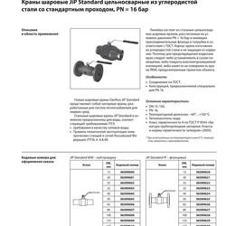 Шаровой стальной кран JIP Premium FF фланец/фланец с рукояткой, Ду 15-200 Ру 16-40, Danfoss