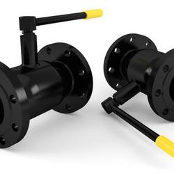 Шаровой стальной кран для газа фланец/фланец полнопроходной, с рукояткой, Ду 15-80 Ру 16-40, серия 70.113, Broen Ballomax