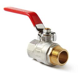 Шаровой латунный кран НР-ВР, с рукояткой, Ду 15-25 Ру 25, Pro Aqua